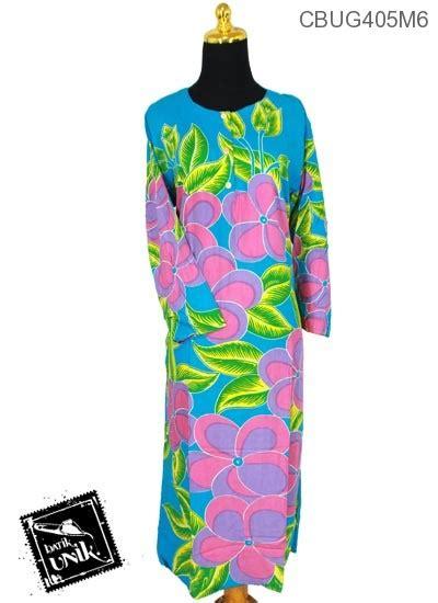 Daster Muslim Batik Longdress baju batik longdress motif bunga daster longdress