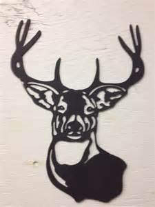 metal deer buck silhouette 15 x 11
