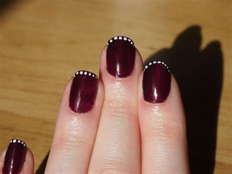 Blackberry Manicure by Make Up By Diana Blackberry Nails With White Spots