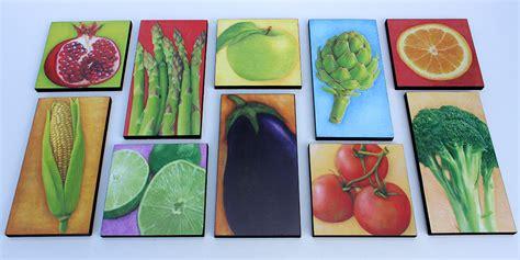 acrylic painting vegetables fruit vegetable print wall decor wood block prints of