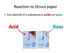 what color does acid turn litmus paper chemical characteristic properties ppt
