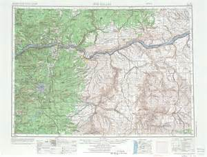 topo map of oregon the dalles topographic maps or wa usgs topo