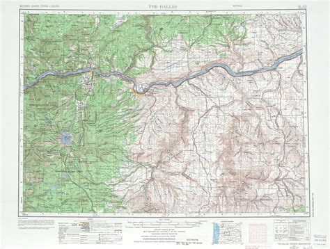 topographical map oregon the dalles topographic maps or wa usgs topo