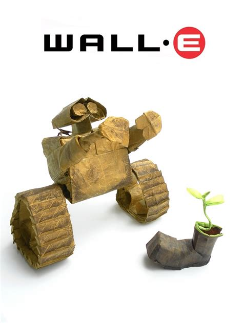 Wall E Origami - pixar disney and other animated characters in origami form
