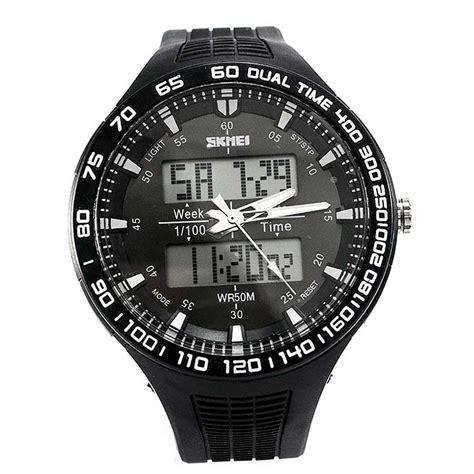 Jam Tangan Pria 110 skmei jam tangan analog digital pria ad1066 white jakartanotebook