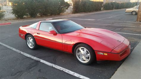 1989 chevrolet corvette red 6 speed manual transmission