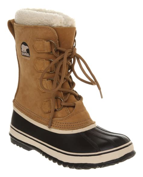 womens sorel 1964 pac 2 buff black boots ebay