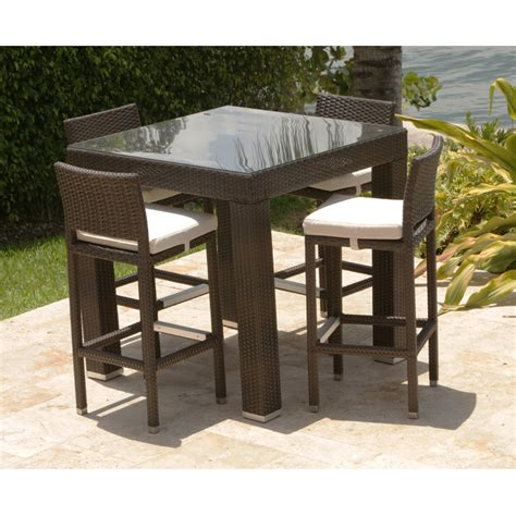 Patio Bar Table Set Wicker Patio Bar Table Set