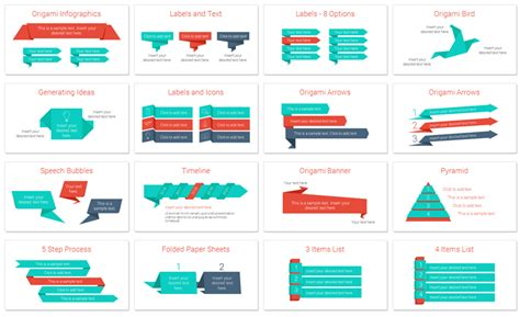 Origami Infographics for PowerPoint   PresentationDeck.com