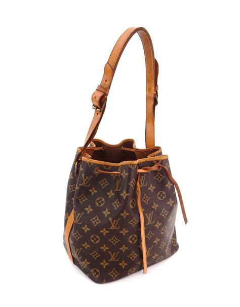 louis vuitton petit noe vintage brown monogram canvas