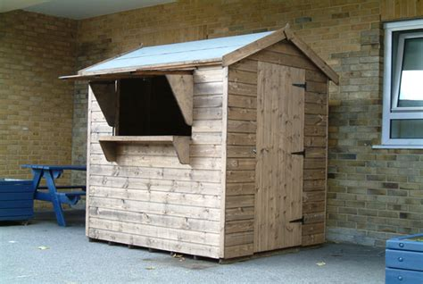 bespoke 6 x 4 apex tuck shop by sheds unlimited