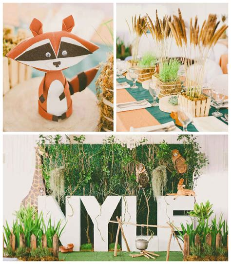 party themes modern kara s party ideas modern woodland themed birthday party