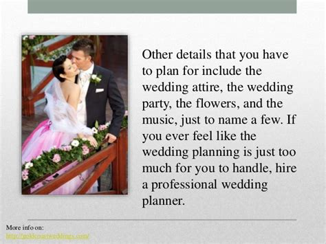 tip for wedding coordinator tips on wedding planning without stress