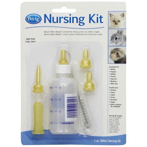 Kitten Feeder Bottle petag petag kitten nursing kit 2 oz kitten nursing bottles syringes