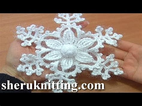 snowflake patterns youtube snowflake ornament crochet tutorial 8 part 1 of 2 6 petal