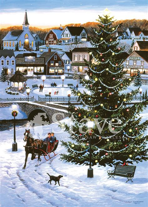 christmas village  traditional puzzle stave puzzles