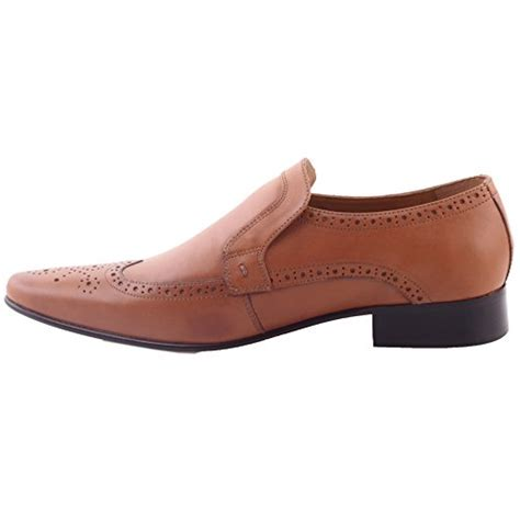 unze mens niva oxford style all leather formal office