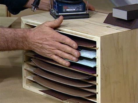 sandpaper storage tips diy