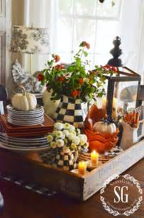 Ideas For Kitchen Table Centerpieces by Fall Kitchen Table Centerpiece Stonegable