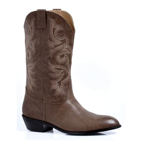 mens size 9 boots mens brown cowboy western horseback rodeo costume