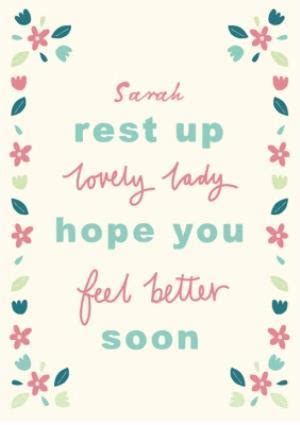Get well soon card   feel better soon   Moonpig