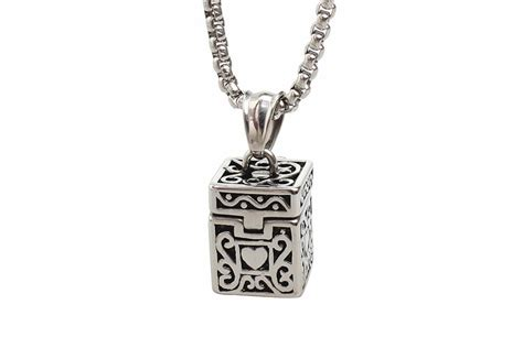 memorial pendant 24 quot chain cremation ashes urn ash holder