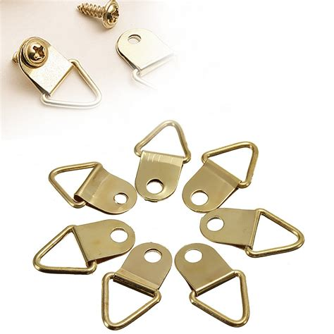 frame hanger 50pcs picture hangers golden brass triangle photo picture