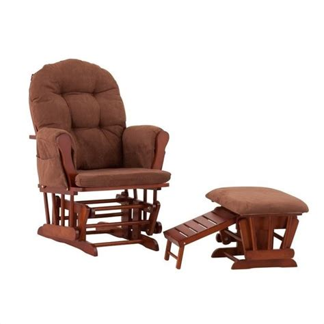 Chocolate Glider And Ottoman Roma Glider And Ottoman In Cognac With Chocolate Cushions 06440 69c