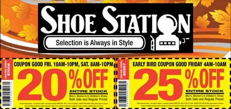 25 printable shoe station coupon inside until