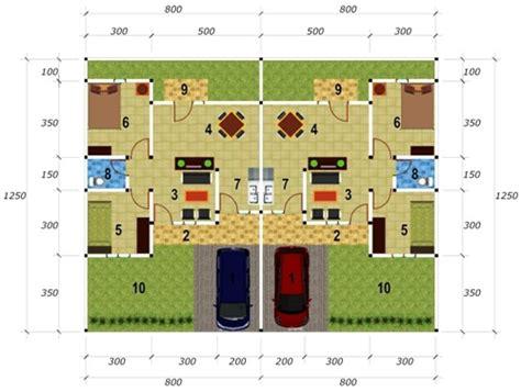 desain atap rumah kopel desain rumah type 45 kopel minimalis jualbogor com