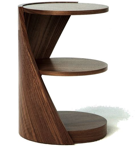side table design inspiring brown modern wood small table design with round