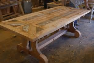 Custom Built Dining Room Tables by Hand Crafted Custom Trestle Dining Table With Leaf