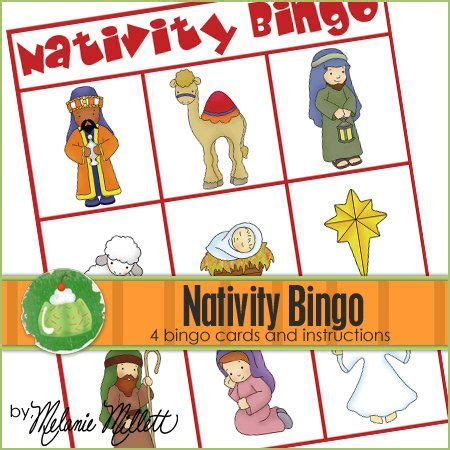 printable christmas cards nativity nativity bingo downloadable pdf only