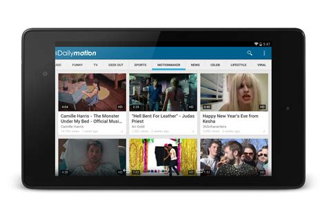 design layout for tablet android dailymotion updates android app with new design