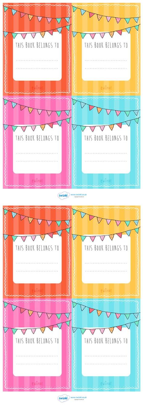 printable labels for school books free printable name labels for school books www imgkid
