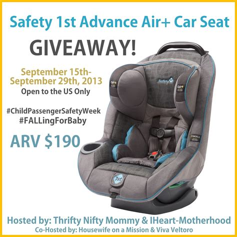 Carseat Giveaway - safety 1st advance air car seat giveaway ends 9 29 everything mommyhood
