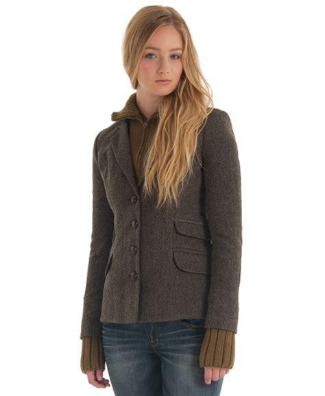 womens knit blazer new womens superdry hacking knit blazer jacket bitter