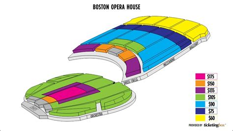boston opera house seating boston opera house seating chart