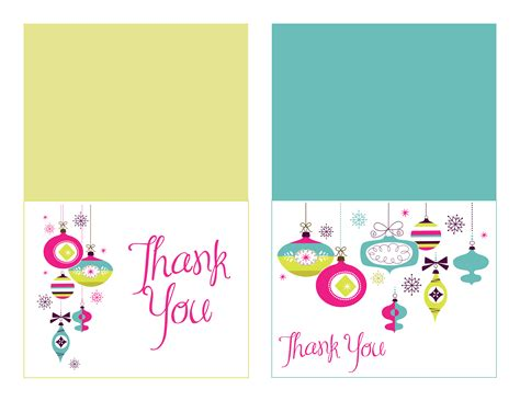 printable thank you cards happy holidays