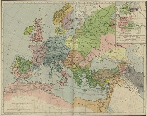 map world powers in 12 century europe historical maps perry casta 241 eda map collection