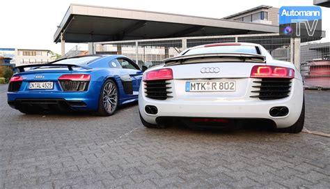 2012 Audi R8 V8 by Audi R8 V8 Vs V10 Plus Sound 60fps