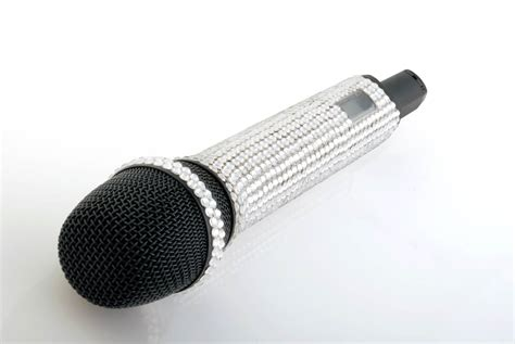 Stand Up Comedy Mic by Free Crystal Microphone Backgrounds For Powerpoint