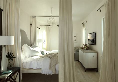 ceiling mounted bed canopy transitional bedroom alys