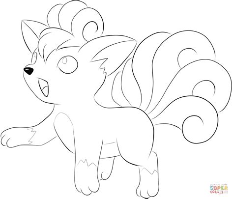pokemon coloring pages vulpix vulpix coloring page free printable coloring pages