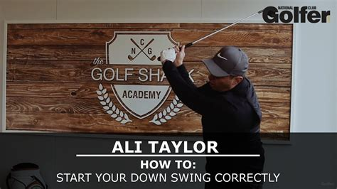 how to get started in swinging ali taylor how to start your down swing correctly the