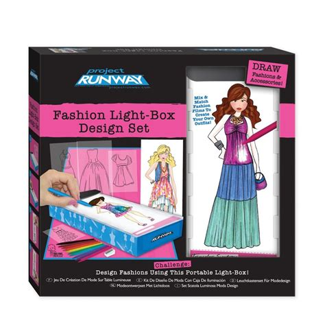 fashion design kit project runway fashion light box design sketch set new
