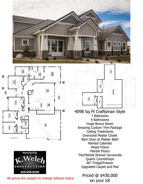 4500 square foot house 3000 4500 sq ft k welch homes