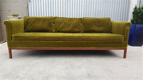 metropolitan sofa metropolitan sofa in green mohair at 1stdibs