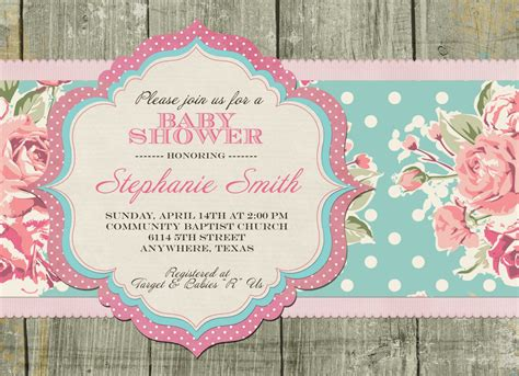 shabby chic baby shower invitation by sayitlouddesigns on etsy