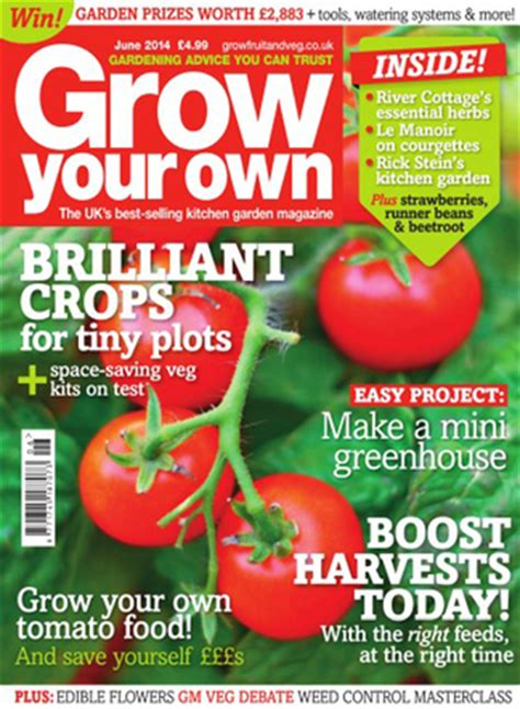 Grow Your Own Magazine Subscription Isubscribe Co Uk Vegetable Garden Magazines